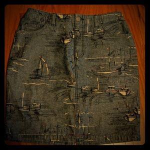 Liz Claiborne size 8 petite sailboat skirt